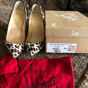Christian Louboutin Pigalle 100 Pony worn 2x
